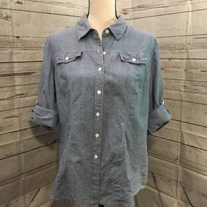 Hester & Orchard Chambray Top